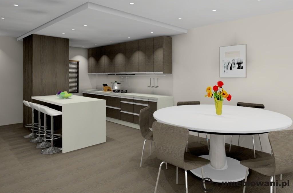 Archiwa kuchnia wenge kolory ścian  Projektowanie i aranżacja wnętrz -> Kuchnia Ecru Wenge