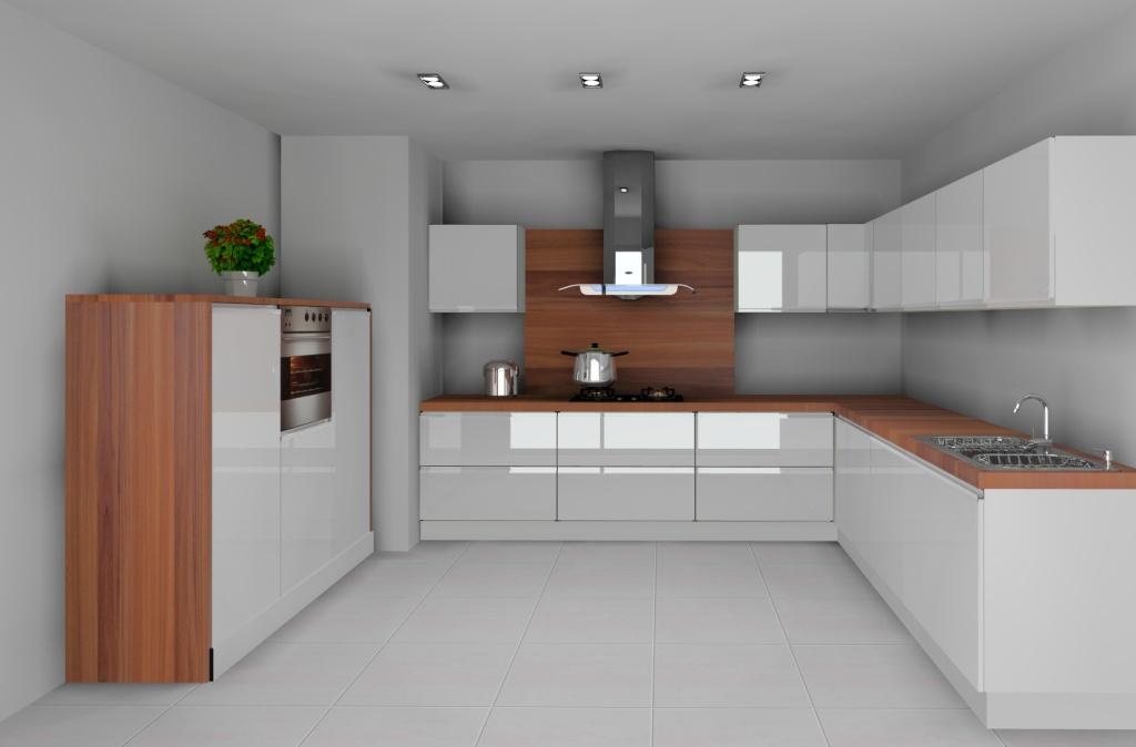 Archiwa biała kuchnia z drewnianym blatem  Projektowanie i aranżacja wnętrz -> Biala Kuchnia Bialy Okap