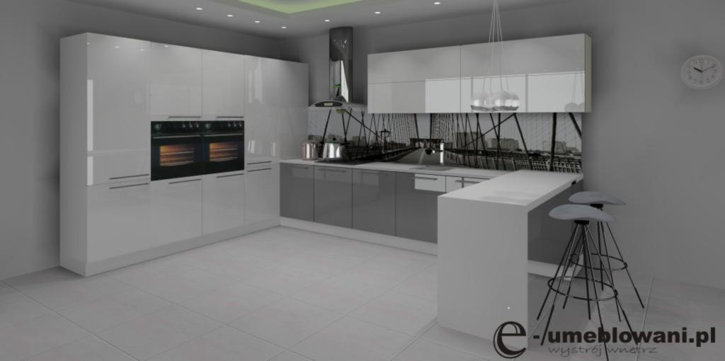Archiwa kuchnia biało szara jaka podłoga  Projektowanie   -> Bialo Szara Kuchnia Z Czarnym Blatem