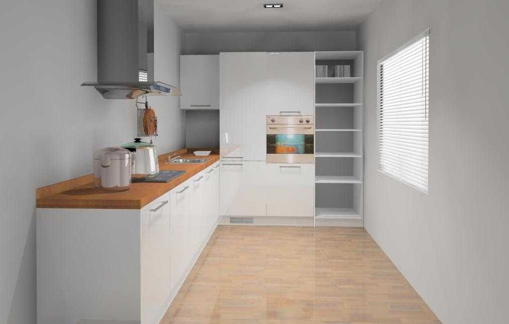 Wystrój wnętrz  Projekty mieszkań, Autor o Aranżacje   -> Kuchnia Mala Wąska