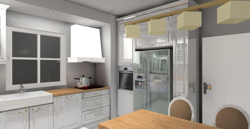 Archiwa biała kuchnia z drewnianym blatem  Aranżacje   -> Kuchnia W Kolorze Kapuczino