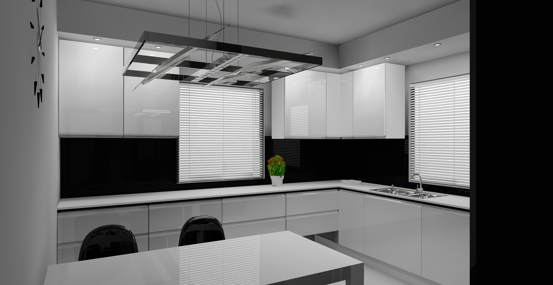 Archiwa kuchnia biało czarna  Aranżacje wnętrz  Meble   -> Kuchnia Bialo Czarna Z Oknem