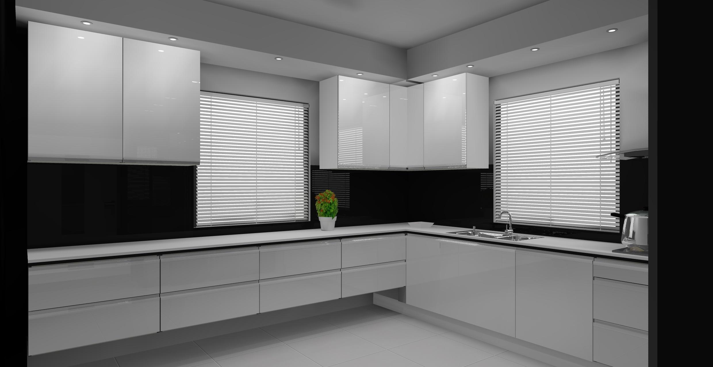 Nowoczesna biało  czarna kuchnia -> Kuchnia Bialo Czarna Galeria