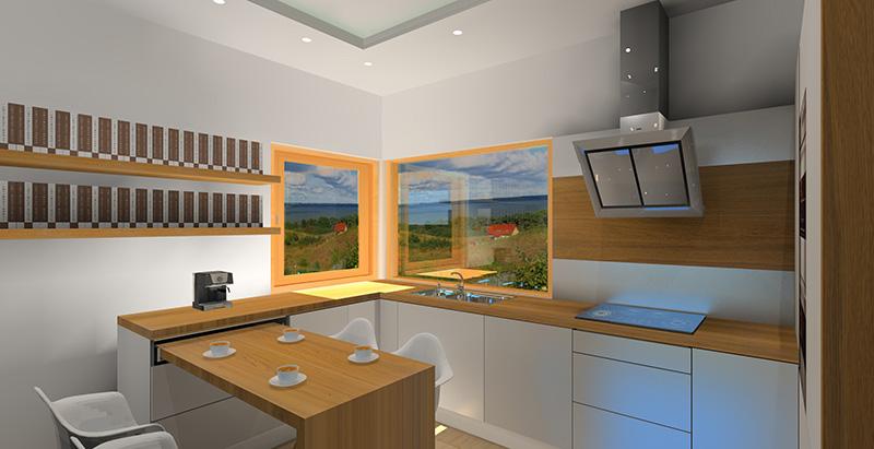 Biała kuchnia z drewnianym blatem  Projektowanie i aranżacja wnętrz -> Biala Kuchnia Z Drewnianym Blatem Opinie