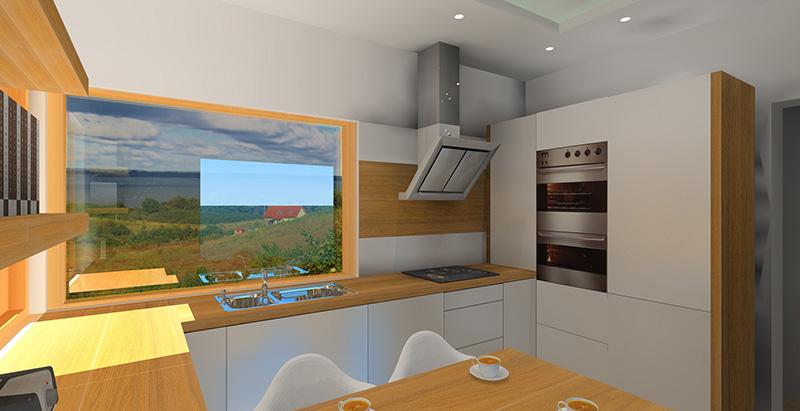 Biała kuchnia z drewnianym blatem  Projektowanie i aranżacja wnętrz -> Biala Kuchnia Z Drewnianym Blatem Jaka Podloga