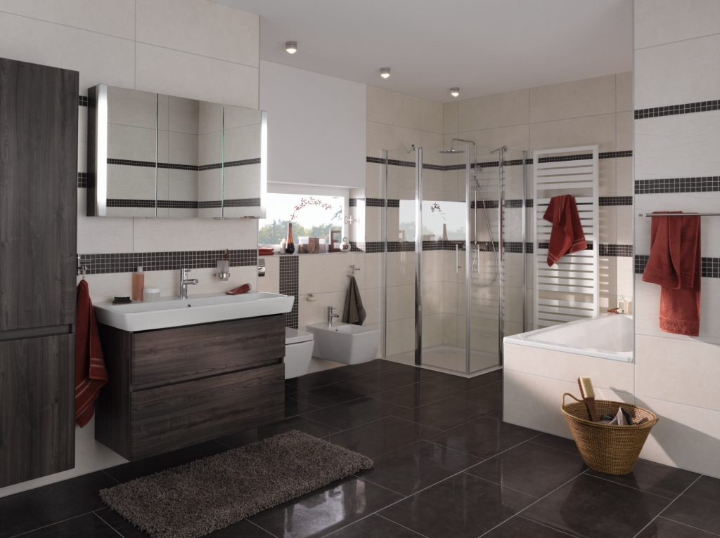 Projekt Aranżacja łazienki Wystrój Nowoczesny W Kolorze