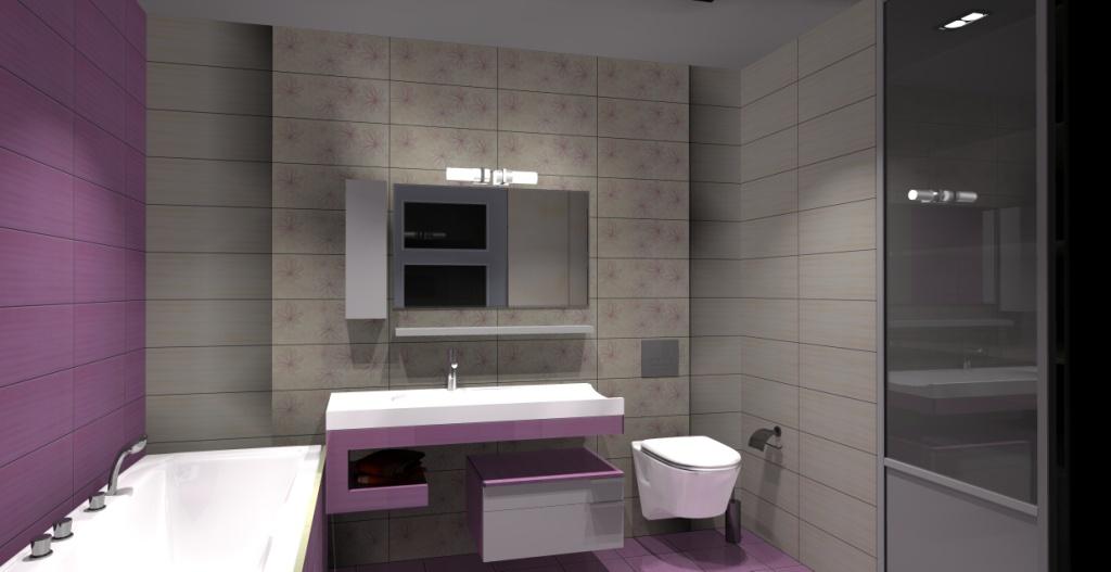 Aranżacja Projekt łazienki Wystrój Nowoczesny W Kolorze