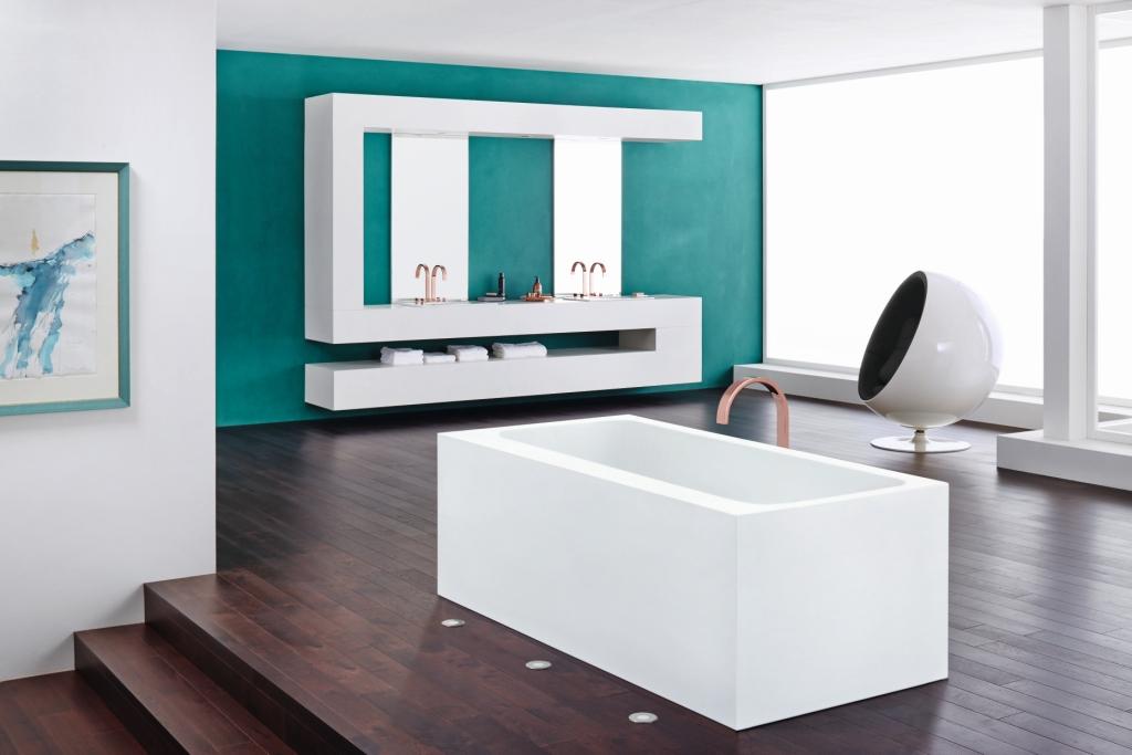 łazienka Wystrój Nowoczesny W Kolorze Biały Brąz Turkus