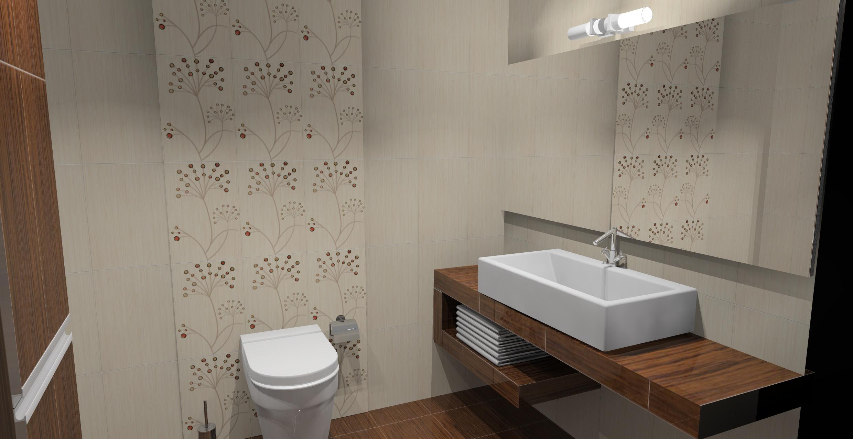 Małe łazienki Wystrój Nowoczesny W Kolorze Brązowym I