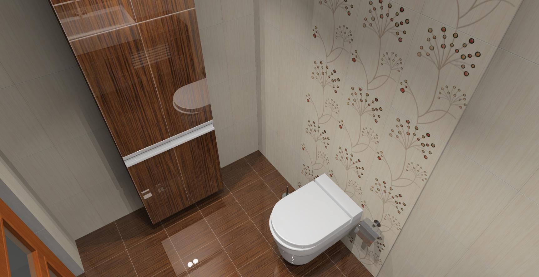 Małe łazienki Wystrój Nowoczesny W Kolorze Brązowym I Beżowym