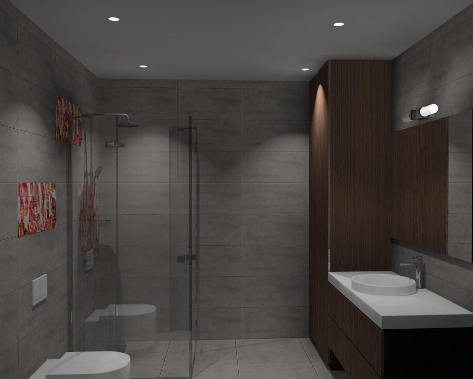 łazienka W Kolorze Betonu