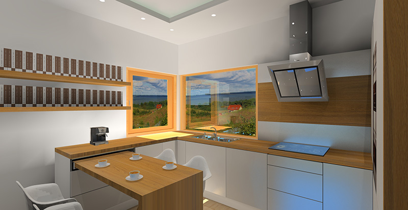 biala-kuchnia-z-drewnianym-blatem-stol-rozkladany-w-kuchni-okno-narozne-2