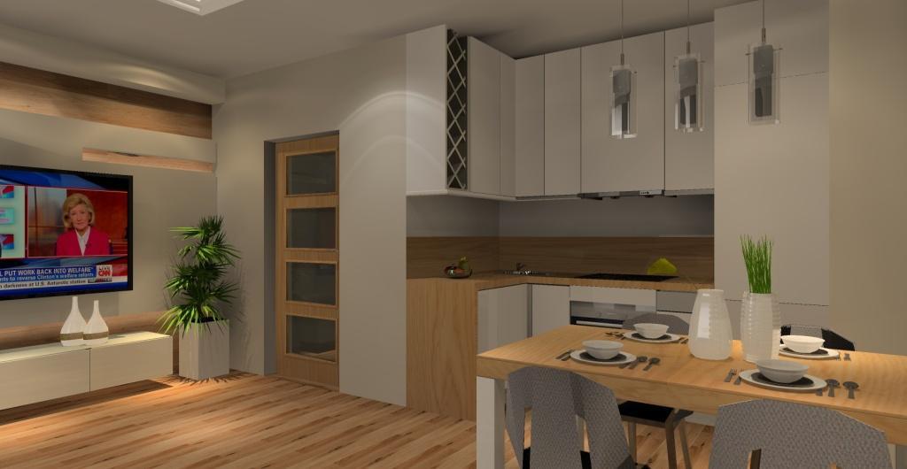 Salon z kuchnią - funkcjonalnie i stylowo